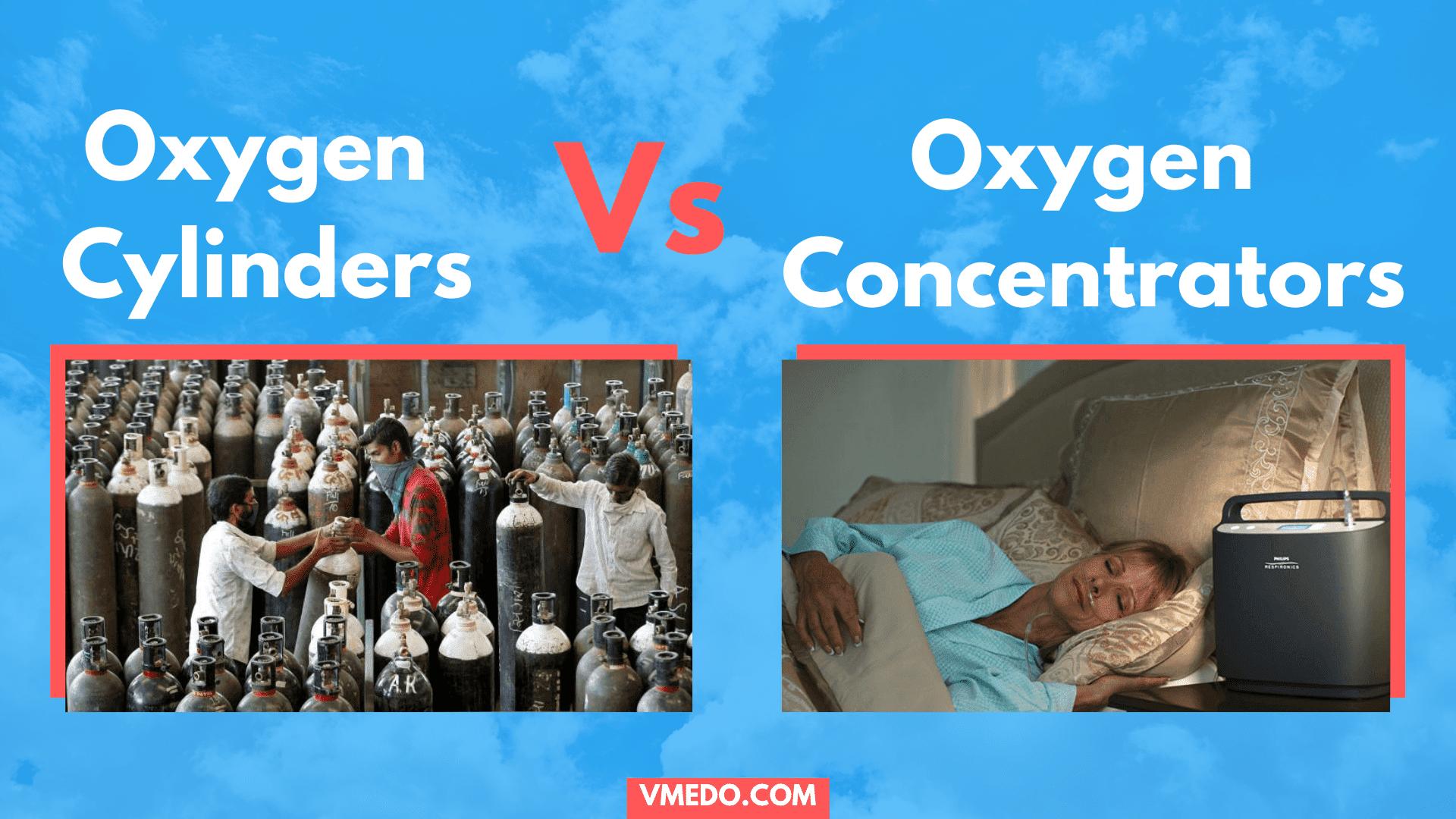 Oxygen cylinders vs oxygen concentrators